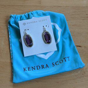 Kendra Scott - Dani Earrings - Gold & Purple Glass